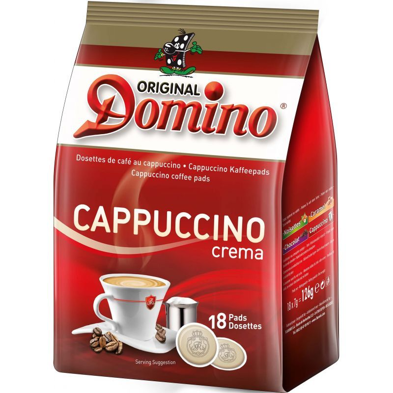 dosette caf aromatis cappuccino 18pcs dosette de caf. Black Bedroom Furniture Sets. Home Design Ideas