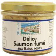 Délice de saumon fumé aux baies de rose