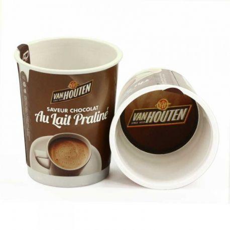 10 Gobelets pré dosés chocolat lait praliné VAN HOUTEN