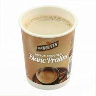 10 gobelets pré dosés premium chocolat blanc praliné